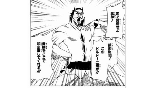 【BLEACH】ドルドーニ・アレッサンドロ・デル・ソカッチオは男気あふれる虚!